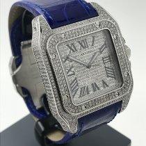 Cartier 41mm Automatik gebraucht Santos 100 Silber