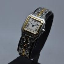 Cartier μεταχειρισμένο Χαλαζίας 22mm Άσπρο Κρύσταλλο-Ζαφειρί