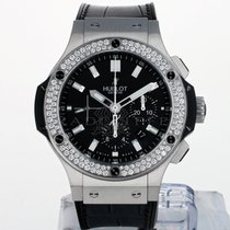 Hublot Steel Automatic Black No numerals 44mm pre-owned Big Bang 44 mm