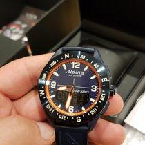 Alpina Plastic Quartz Blue Arabic numerals pre-owned Alpiner