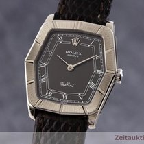 Rolex Cellini Vitguld 24.5mm Svart
