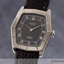 Rolex Cellini Fehérarany 24.5mm Fekete