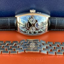 Franck Muller Master Banker Rose gold 39mm Silver Arabic numerals United States of America, Texas, Dallas