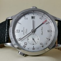Zenith Steel Automatic White 39mm pre-owned Elite Dual Time