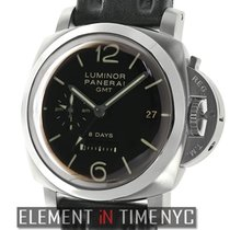 Panerai Luminor 1950 8 Days GMT Steel 44mm Black Arabic numerals United States of America, New York, New York