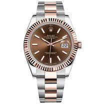 Rolex Datejust II Steel Rose Gold Chocolate Dial 41mm