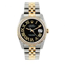 Rolex Datejust Men's 36mm Black Dial Stainless Steel And...