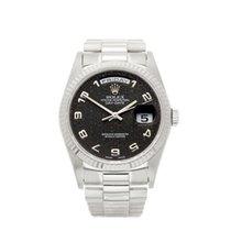 Rolex Day-Date 18k White Gold Gents 18239 - W4510