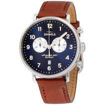 Shinola The Canfield Blue Dial Leather Strap Men's Watch 20001940