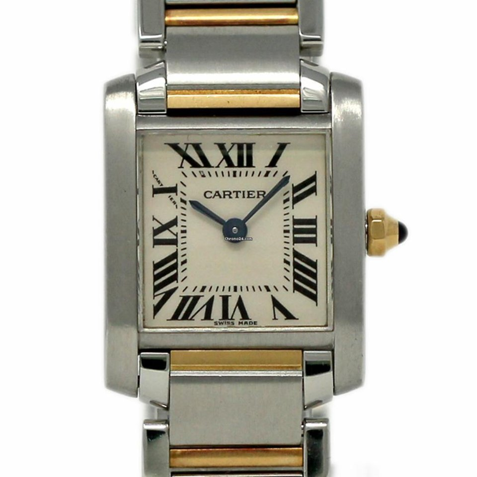 Cartier Tank Francaise W51007Q4 Small White Roman Steel Gold... za Kč 72  518 k prodeji od Trusted Seller na Chrono24 891037ba42