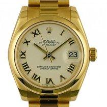 Rolex Lady-Datejust Yellow gold 31mm White