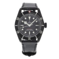 Tudor Black Bay pre-owned 45mm Black Leather