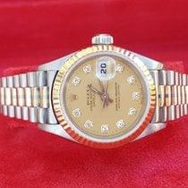 Rolex Lady-Datejust Hvitt gull 26mm Gull