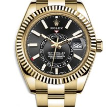 Rolex Sky-Dweller Rolex 326938  SKY-DWELLER 42mm 18K Yellow Gold Black Dial 2020 new
