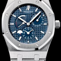 Audemars Piguet Royal Oak Dual Time Сталь 39mm Синий Без цифр