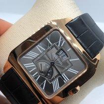 Cartier Santos Dumont Roségold 38mm Grau
