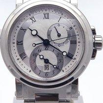 Breguet Marine Gmt Automatic Silver Dial 5857st12szo On Bracelet