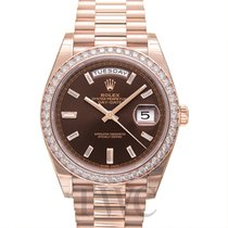 Rolex Day-Date 40 Rose gold 40.00mm Brown