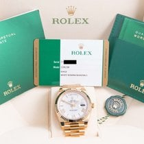 Rolex Day-Date 40mm President White Roman Box & Papers/Card