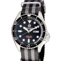 Deep Blue New Diver 300 Automatic Watch 44mm Pvd Case Nylon...