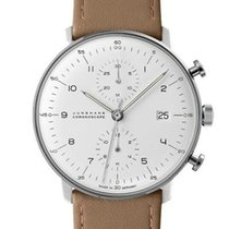荣汉斯 Max Bill Chronoscope automatic stainless steel white brown