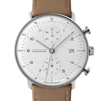 Junghans Max Bill Chronoscope automatic stainless steel white...
