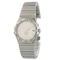 Omega Constellation Ladies pre-owned 34mm Silver Date Steel