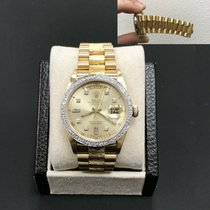 93b0064660d Rolex 18078 Yellow gold Day-Date 36 36mm pre-owned United States of  America. Rolex Day Date President 18078 Diamond Dial ...