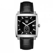 TAG Heuer Monaco Lady Acier 37mm Noir Sans chiffres