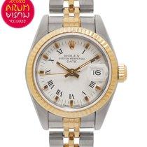 Rolex Lady-Datejust Zlato/Zeljezo 26mm Bjel