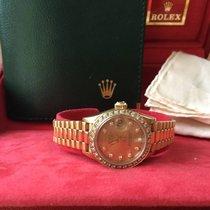 Rolex Date Just Gold Diamant Damenuhr