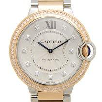Cartier Ballon Bleu 18 K Rose Gold With Diamonds Silver...