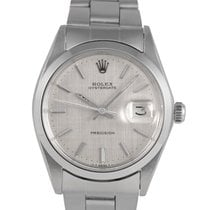 Rolex Oysterdate  Steel with Silver Linen Dial 6694