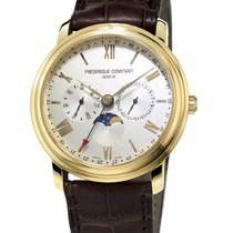 Frederique Constant 40mm Quartz nieuw Classics Business Timer Zilver