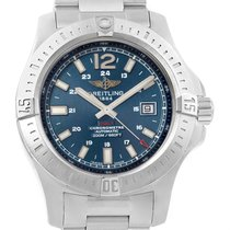 Breitling Colt Blue Baton Dial Automatic Steel Mens Watch A17388