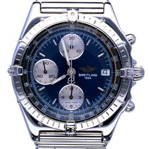Breitling Chronomat Rouleauxband Steel Blue Dial (39 mm)