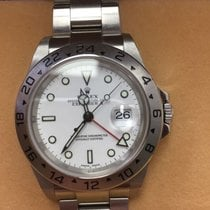 Rolex Explorer II White Face No Holes Case