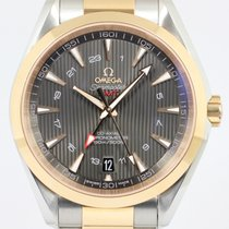 Omega Seamaster Aqua Terra Gold/Steel 43mm Brown No numerals