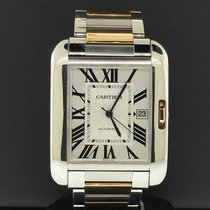 Cartier Tank Anglaise 47mm Silver Roman numerals