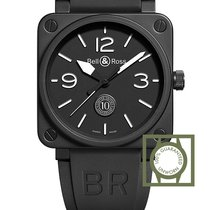 Bell & Ross BR 01 10th Anniversary Automatic Black Rubber...