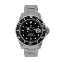 ロレックス Submariner Date 40 Black Stainless-Steel Diver Watch 16610