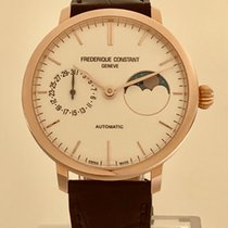 Frederique Constant Manufacture Slimline Moonphase Gold/Steel 38.8mm Silver No numerals United States of America, California, Mission Viejo
