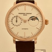 Frederique Constant Manufacture Slimline Moonphase new 2019 Automatic Watch with original box and original papers FC-702V3S4