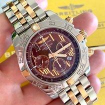 Breitling Chronomat 44 Gold/Stahl 44mm Braun Römisch