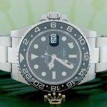 Rolex GMT-Master II 40MM Black Ceramic Bezel Steel Oyster Mens...