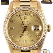 勞力士 Factory Diamond Rolex Day-Date President 36mm 18038 18K...
