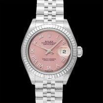 Rolex White gold Automatic Pink 28.00mm new Lady-Datejust