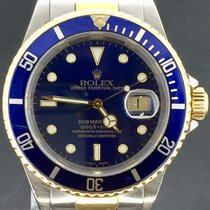 Rolex Submariner Date Gold/Steel, Blue Dial. UNPOLISHED.