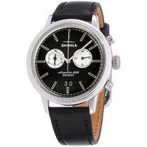 Shinola The Bedrock Black Dial Leather Strap Men's Watch 20089882