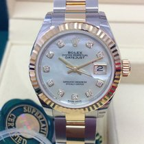 Rolex Lady-Datejust Zlato/Zeljezo 28mm Sedef-biserast Bez brojeva
